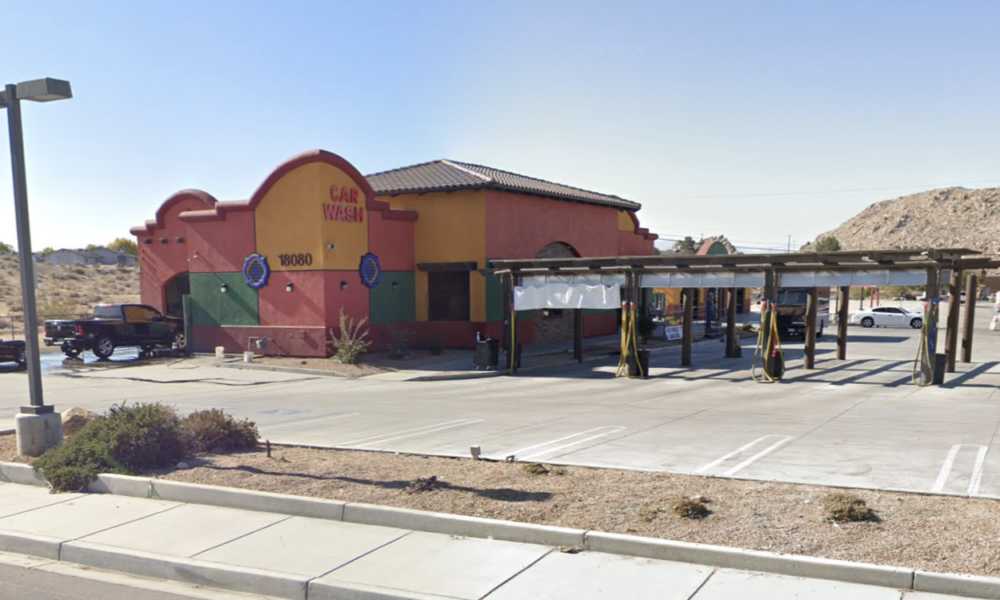 Lottery machine stolen during a burglary at Apple Valley Car Wash. (google maps)