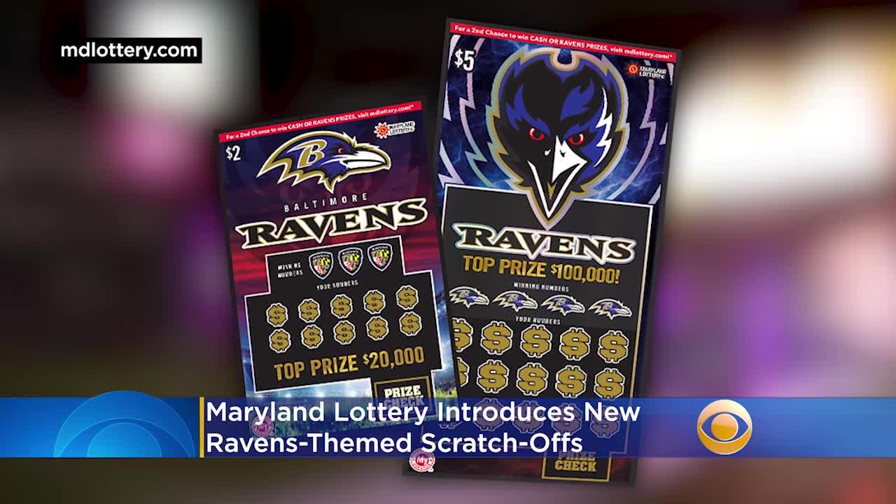Maryland Lottery Memperkenalkan Scratch-Off Bertema Ravens Baru - CBS Baltimore