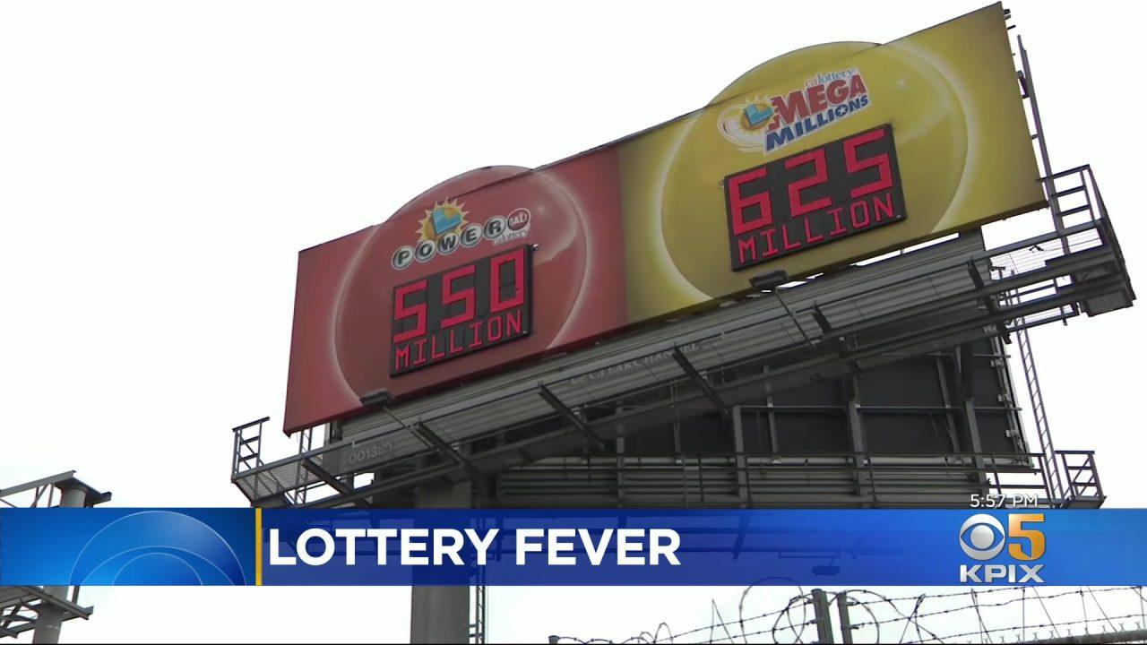 Dua Jackpot Bernilai Hampir $ 1,2 Miliar Berikan Demam Lotere Bay Area - CBS San Francisco