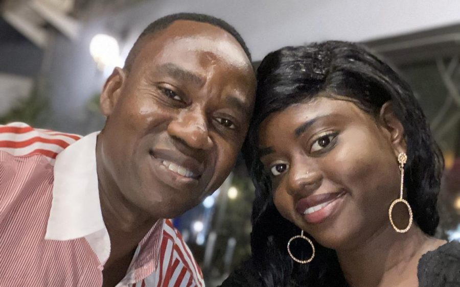 Moumouni Zeba and his wife, Fatimata, pose for a photo in their native country of Burkina Faso. (Submitted photo)